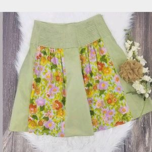 Anthropologie Skirt 6 RARE Snak Brand Floral